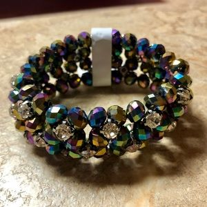 Jewelry - 🆕Sexy Multicolor Crystal Elastic Layer Bracelet